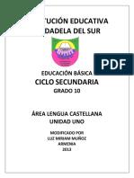 PDF Ejemplo o Taller Literatura Española Decimo