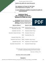 Assembléia Legislativa Do Estado de São Paulo - CPI Queima de Palha de Cana