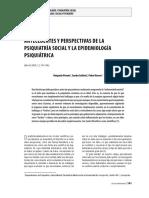 Antecedentes y Perspectivas de La Psiquiatria Social y La Epidemiologia Psquiatrica