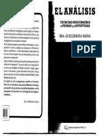 El Analisis, tecnicas para enseñar a pensar y a investigar - Baena Guillermina.pdf