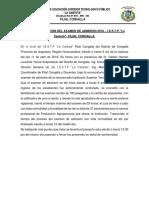 Acta de Aplicación Del Examen de Admisión 2017