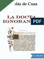 La docta ignorancia - Cardenal Nicolas de Cusa.pdf