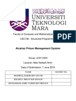 Report of Prison Management System (Coding c++ Project)