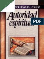 110 - Watchman Nee Autoridad Espiritual(1)