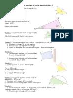 Triangle Rectangle Cercle Circonscrit Exercices 4eme
