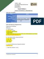 Hoja de Trabajo 1 - Progresiones Aritméticas y Geométricas