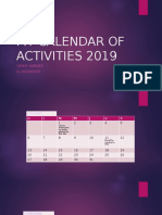 My Calendar of Activities 2019