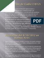 3) Constitución de Cádiz - 2º Triunvirato - Asamblea (1812-1813)