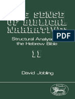 David Jobling, The Sense of Biblical Narrative II Structural Analyses in the Hebrew Bible