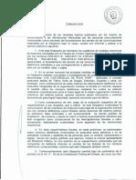 COMUNICADO del Dr. Cerapio Roque Huamancondor