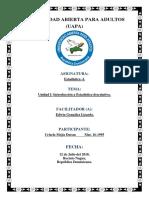 Unidad I- Introducción a Estadística Descriptiva.
