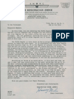 Letter Entering 5th Degree (1956)