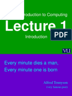 Introduction to Computing – CS101  Power Point Slides Lecture  01.pps