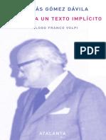 Prólogo de Franco Volpi a Las Obras Completas
