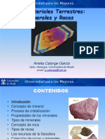 Los Materiales Terrestres Minerales Rocas