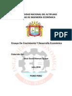 275651370 Ensayo Sobre Crecimiento y Desarrollo Economico