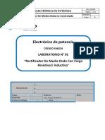 Sandro Moises Vargas Pumaccajia - Lab01 - Rectificador de Media Onda