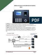 Ficha Técnica Terminal de Huella Acceso In01a