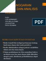 Penganggaran Modal Dan Analisis Risiko