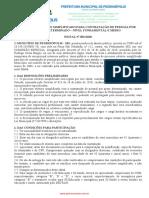 Edital 2018 prefeitura de Santa Bárbara