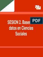 Sesión 2, Bases de Datos en Ciencias Sociales