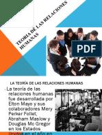 Teoria de Las Relaciones Humanas Administracion