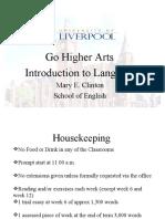 Go Higher Arts Lang 2010 1 PPT