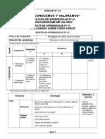 ARMADO SESIONES DE APRENDIZAJE - 2º ELISA ,MULTIGRADO.doc