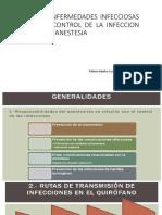 complicaciones infecciosas en anestesia