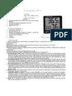 Instructivo Termómetro Grómetro Htc-1