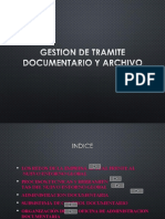 1. Gestion de Tramite Documentario