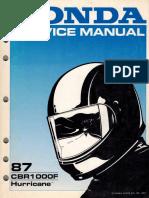 1987 CBR1000F Factory Service Manual