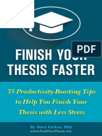 Finish Your Thesis Faster Dora Farkas New