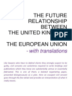 The July 2018 Brexit White Paper - Translated