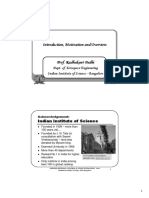 Lecture – 01 -- Introduction & Motivation