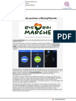 Tutte le strade portano a RisorgiMarche - Adriaeco.eu, 12 luglio 2018