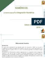 C8_MetNum_I_ 2018 - I - Derivación e Intergración Numérica