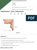 Tiroidectomía - Serie—Indicaciones