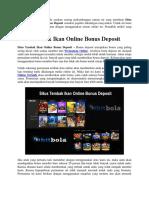 Situs Tembak Ikan Online Bonus Deposit