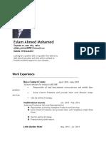 Eslam Ahmed CV Last