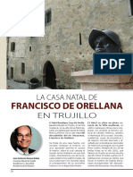 La casa natal de Francisco de Orellana en Trujillo por José Antonio Pérez Rubio en Revista D&M América febrero/marzo 2017 p. 6-13