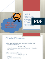 Unit 5 - First Law Applied to Flow Process