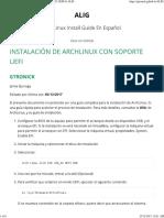 Instalación de Archlinux Con Soporte Uefi