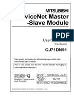QJ71DN91 DeviceNet MasterSlave UserManual Hardware IB 0800149 B