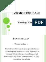"Teori Fisiologi Hewan ""Termoregulasi"" by Bu Indri Garnasih"