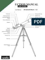 Manual telescope