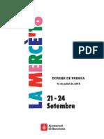 Dossier de presentació de la MERCÈ 2018