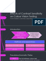 Effects of Contrast Sensitivity on Colour Vision Testing