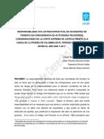 RESPONSABILIDAD DEL ESTADO POR ACCIDENTES DE TRANSITO