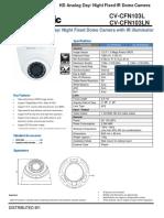 Panasonic CV-CFN103L CFN103LN SpecSheet